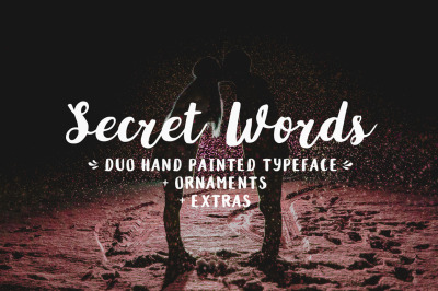Secret Words Font Duo + Big Bonus