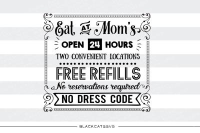 Eat at mom's SVG