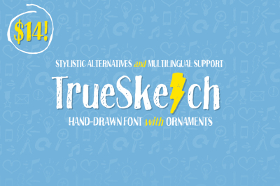 Truesketch + Bonus Ornament Font