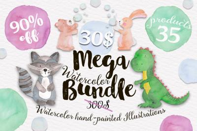 Mega Watercolor Bundle