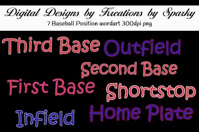 Baseball Wordart Pack 1