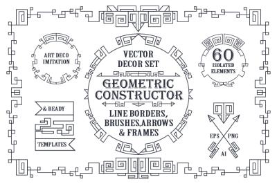 Geometric decor creator.Art Deco