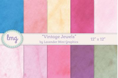 Vintage Jewels Digital Scrapbook Paper
