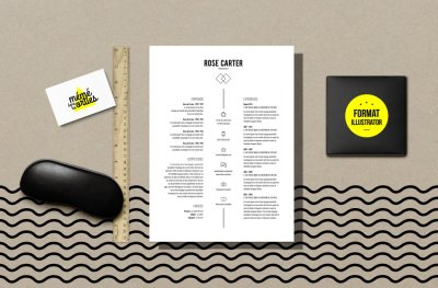 CV Carter - Resume template Illustrator