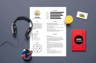 CV Power - Resume template Illustrator