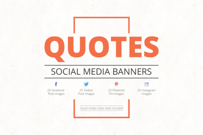 Quotes Social Media Banners