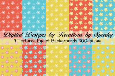 Shades of Summer Eyelet Textured Fabric Backgrounds
