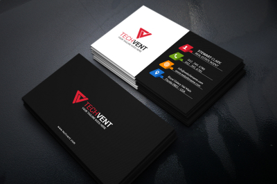 Creative Black Business Card