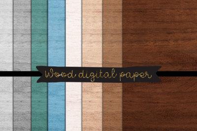 wood textures, Wood digital paper, rustic Wood Paper,