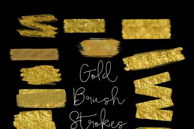 brush strokes clip art, gold brush clipart, gold paint clipart, wedding gold Paint Clipart, gold ink strokes clipart, watercolor clip art