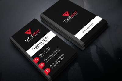 Three Color Corporate Business Card Template