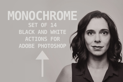 Monochrome Photoshop Action Set