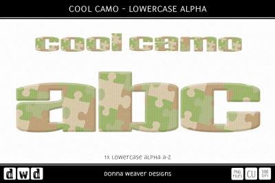COOL CAMO - Lowercase Alpha