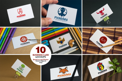 10 Business Card Mock-ups Vol.1
