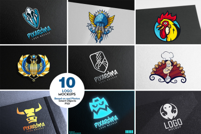 10 Logo Mock-ups Vol.2