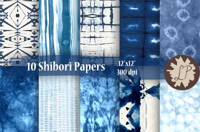 Blue Shibori Paper Pack