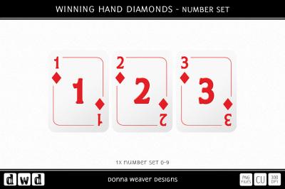 WINNING HAND DIAMONDS - Number Set