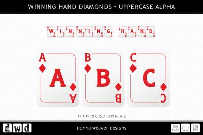 WINNING HAND DIAMONDS - Uppercase Alpha