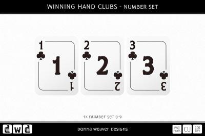 WINNING HAND CLUBS - Number Set