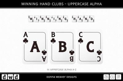 WINNING HAND CLUBS - Uppercase Alpha
