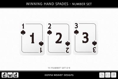 WINNING HAND SPADES - Number Set