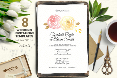 Wedding Invitations Pack nr 3