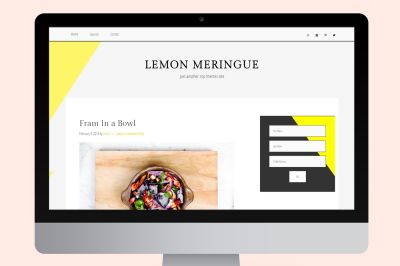 Lemon Meringue Genesis Child Theme