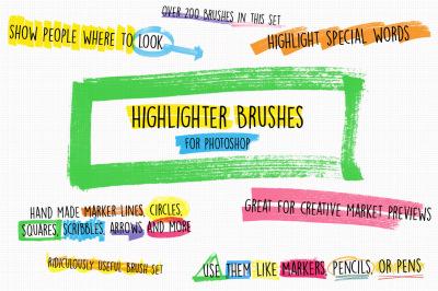 Highlighter Photoshop Brushes