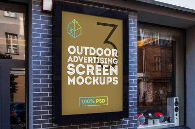 Outdoor Advertising Screen Mock-Ups 2