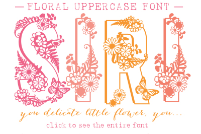 Siri Floral Typeface
