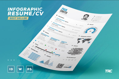 Infographic Resume Vol 1 - Psd + Indd + Docx