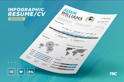 Infographic Resume Vol 2 - Psd + Indd + Docx Template