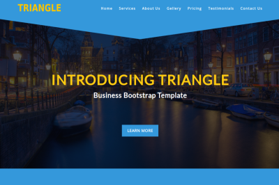Triangle - Business Bootstrap Template