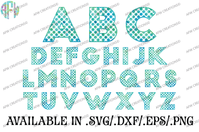 Polka Dot Letters - SVG, DXF, EPS CUt Files
