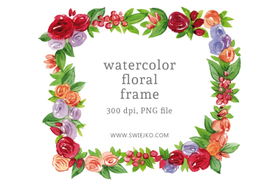 Floral Frame, hand painted