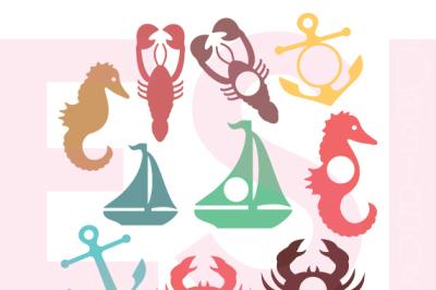 Nautical Silhouette and Monogram Designs