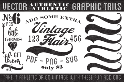 Vintage Vector Graphic Tails