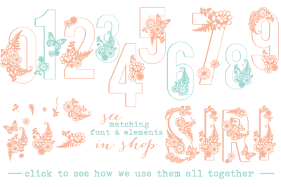 Siri Floral Numbers Font