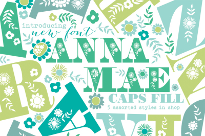 Anna Mea Uppercase Font