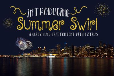 Summer Swirl | A Curly Handwritten Font