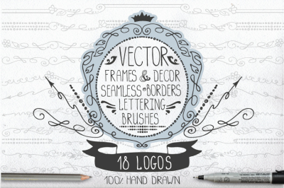 Retro frames,borders,logo pack 01