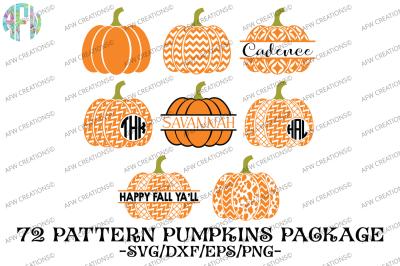 Pattern Pumpkin Bundle (72) - SVG, DXF, EPS Cut Files