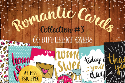 60 Romantic Wedding Cards Set #3