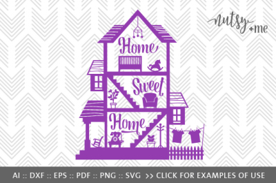 Home Sweet Home - SVG, PNG & VECTOR Cut File
