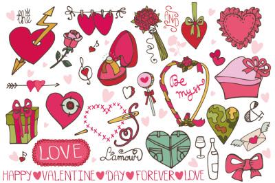 Valentines day color decor