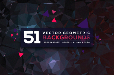 51 Vector Geometric Backgrounds