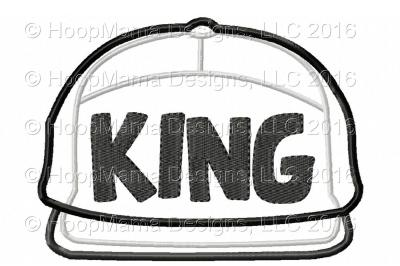 King Snapback Hat Applique