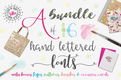 Handlettered Font Bundle - 50% OFF