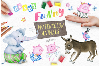 Watercolor Animals + BONUS