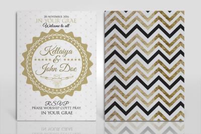 Double Sided Wedding Invitation